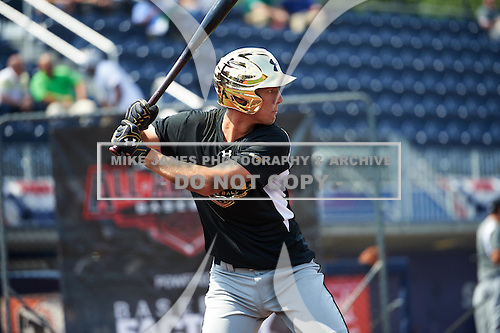 Grae Kessinger (11) of Oxford High School in Oxford, Mississippi during the Under Armour All-American Game practice on August 14, 2015 at Les Miller Field in Chicago, Illinois. (Mike Janes/Four Seam Images)