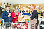 Jack Martin and Helen Martin with Silke Michels from Creme de la Crepe, Dingle at the Manor West Food Fair on Saturday