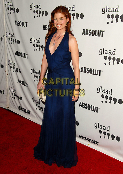 DEBRA MESSING.Attends The 17th Annual GLAAD Media Awards held at The Kodak Theatre in Hollywood, California, USA, .April 8th 2006..full length crystal stone long navy blue dress.Ref: DVS.www.capitalpictures.com.sales@capitalpictures.com.©Debbie VanStory/Capital Pictures