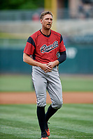 Hunter Pence (40) of the Sacramento River Cats during the game against the Salt Lake Bees at Smith's Ballpark on May 17, 2018 in Salt Lake City, Utah. Salt Lake defeated Sacramento 12-11. (Stephen Smith/Four Seam Images)