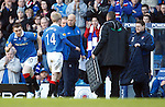 Steven Naismith taken off as a precaution with a tight hamstring