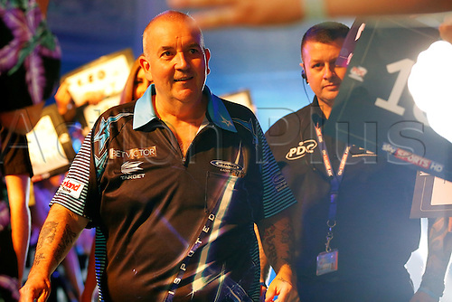 23.07.2016. Empress Ballroom, Blackpool, England. BetVictor World Matchplay Darts. Phil Taylor walks into the arena and meets the supporters before entering the stage