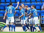 St Johnstone v Hamilton Accies...12.09.15  SPFL McDiarmid Park, Perth<br /> Liam Craig celebrates his goal<br /> Picture by Graeme Hart.<br /> Copyright Perthshire Picture Agency<br /> Tel: 01738 623350  Mobile: 07990 594431