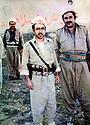 Iraq 1982 <br /> In Sofian, Idris Barzani with Mirkhan Mohamedamin <br /> Irak 1982 <br /> A Sofian, Ier plan, Idris Barzani avec Mirkhan Mohamedamin