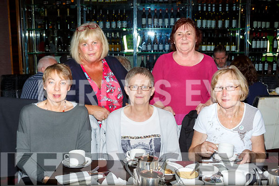 Theresa Daly, Kathleen McCarthy, Margaret mcCarthy, Maureen Steinbeck and Kay O'Sullivan the Cian O'Donoghue memorial coffee morning in aid of Killarney Water Rescue in the Killarney Towers Hotel on Saturday