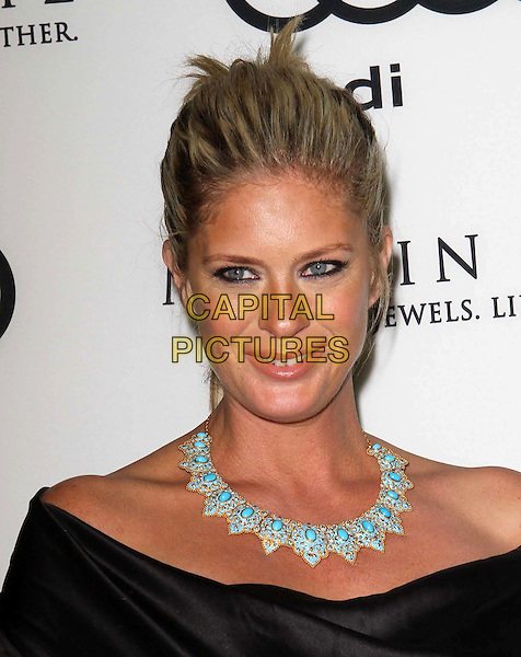 Rachel Hunter.Audi And Martin Katz Kick Off Golden Globes Week 2012 Held At Cecconi's Restaurant, West Hollywood, California, USA..January 8th, 2012.headshot portrait black off the shoulder necklace turquoise hair up.CAP/ADM/KB.©Kevan Brooks/AdMedia/Capital Pictures.
