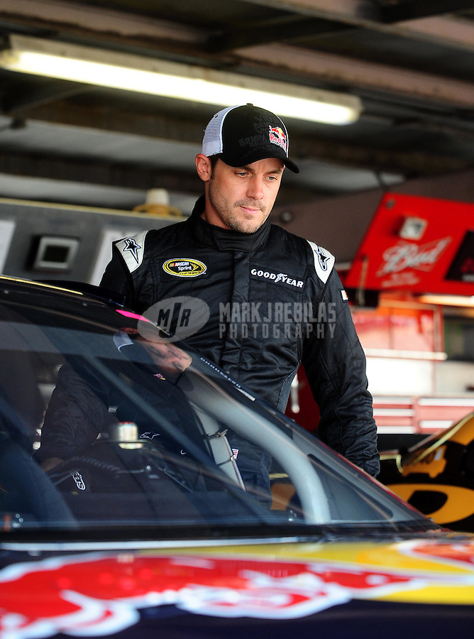 May 14, 2010; Dover, DE, USA; NASCAR Sprint Cup Series driver Casey Mears during practice for the Autism Speaks 400 at Dover International Speedway. Mears is driving in place of Brian Vickers (not pictured) who is hospitalized with blood clots. Mandatory Credit: Mark J. Rebilas-