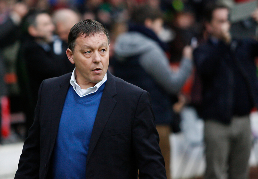 Nottingham Forest's Manager Billy Davies <br /> <br /> Photo by Jack Phillips/CameraSport<br /> <br /> Football - The Football League Sky Bet Championship - Nottingham Forest v Blackburn Rovers - Saturday 18th January 2014 - The City Ground - Nottingham<br /> <br /> &copy; CameraSport - 43 Linden Ave. Countesthorpe. Leicester. England. LE8 5PG - Tel: +44 (0) 116 277 4147 - admin@camerasport.com - www.camerasport.com