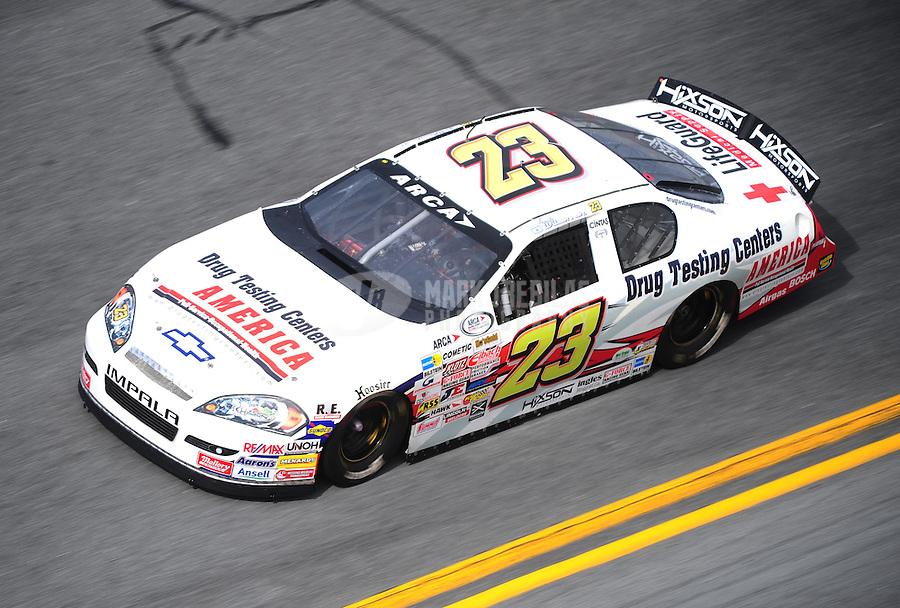 Feb 4, 2010; Daytona Beach, FL, USA; ARCA RE/MAX Series driver Frank Wilson during practice for the Lucas Oil Slick Mist 200 at Daytona International Speedway. Mandatory Credit: Mark J. Rebilas-