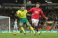 Ben Godfrey of Norwich City and Mason Greenwood of Manchester United during the Premier League match between Norwich City and Manchester United at Carrow Road on October 27th 2019 in Norwich, England. (Photo by Matt Bradshaw/phcimages.com)<br /> Foto PHC/Insidefoto <br /> ITALY ONLY
