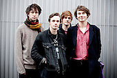 PALMA VIOLETS - L-R: Pete Mayhew (keyboards), Sam Fryer (vocals, guitar), Will Doyle (drums), Chilli Jesson (bass) - portrait photosession in Paris France - 09 Nov 2012.  Photo credit: Monfourny/Dalle/IconicPix