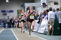 WINSTON-SALEM, NC - FEBRUARY 08: Sara Freix #5 of Virginia Tech competes in the Women's Camel City Elite 3000 Meters at JDL Fast Track on February 08, 2020 in Winston-Salem, North Carolina.