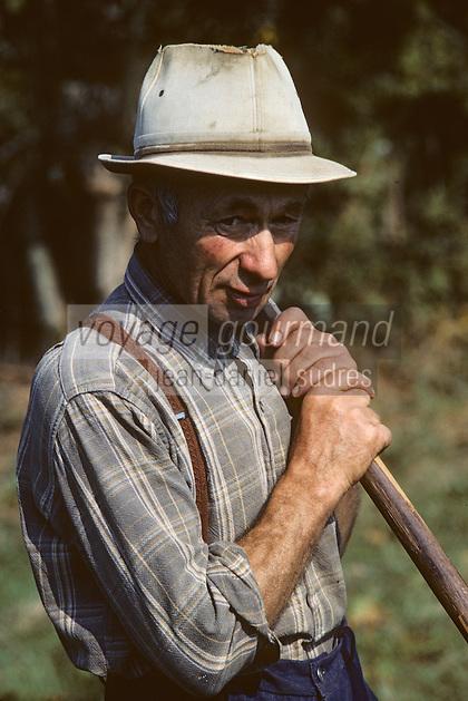 Europe/France/Limousin/23/Creuse/Boussac: Paysan [Non destiné à un usage publicitaire - Not intended for an advertising use] <br /> PHOTO D'ARCHIVES // ARCHIVAL IMAGES<br /> FRANCE 1980