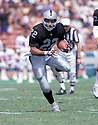 Los Angeles Raiders, Roger Craig(22) in action against the Denver Broncos on September 8, 1991 at the Los Angeles Memorial Coliseum in Los Angeles, California.  The  Raiders beat the Broncos 16-13.