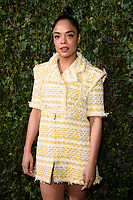 Tessa Thompson arriving for the 2018 Charles Finch &amp; CHANEL Pre-Bafta party, Mark's Club Mayfair, London, UK. <br /> 17 February  2018<br /> Picture: Steve Vas/Featureflash/SilverHub 0208 004 5359 sales@silverhubmedia.com