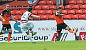 Hamilton's Anthony Andreu scores their second goal.