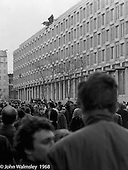The American Embassy in Grosvenor Square, anti-Vietnam war demonstration march from Trafalgar Sq to Grosvenor Sq Sunday 17th March 1968.