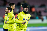30th January 2020; Camp Nou, Barcelona, Catalonia, Spain; Copa Del Rey Football, Barcelona versus Leganes; Antoine Griezmann of FC Barcelona during warm up