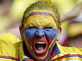 Fans de Colombia antes del partido contra Peru en el Estadio Metropolitano Roberto Melendez de Barranquilla el  8 de octubre de 2015.<br /> <br /> Foto: Archivolatino<br /> <br /> COPYRIGHT: Archivolatino<br /> Prohibido su uso sin autorizaci&oacute;n.
