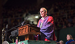 Distinguished Professor Thomas Carpenter delivers the fall commencement address. Photo by Ben Siegel