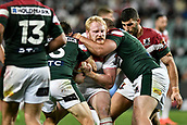 4th November 2017, Sydney Football Stadium, Sydney, Australia; Rugby League World Cup, England versus Lebanon; James Graham of England tries to force his way through the Lebanon defence