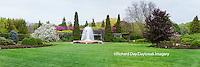 63821-22603 Peace Garden and fountain in spring, Chicago Botanic Garden, Glencoe, IL