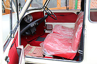 BNPS.co.uk (01202 558833)<br /> Torque/BNPS<br /> <br /> A Mini masterpiece....<br /> <br /> A 'time warp' classic Mini that still has covered less than 300 miles and still has its original plastic seat covers has emerged for sale.<br /> <br /> The Mk1 Morris Minor-Mini Super De Luxe was built in 1967 and bought from new by a learner driver.<br /> <br /> She had intended it to be her first car, but when she failed to pass her test it was put into a garage - where it remained for several decades.