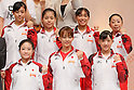 (L to R) Yuko Shintake (JPN), Koko Tsurumi (JPN), Yu Minobe (JPN), Rie Tanaka (JPN), Kyoko Oshima (JPN), Yumi Iizuka (JPN), Mai Yamagishi (JPN), September 12, 2011 - Artistic Gymnastics : Japanese Women's Artistic Gymnastics National Team attend press conference in Tokyo, Japan, regarding the Artistic Gymnastics World Championships 2011 Tokyo. (Photo by Yusuke Nakanishi/AFLO SPORT) [1090]
