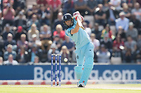 Chris Wakes (England) drives through extra cover during England vs West Indies, ICC World Cup Cricket at the Hampshire Bowl on 14th June 2019