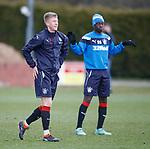 30.3.2018: Rangers training:<br /> Ross McCrorie and Dalcio