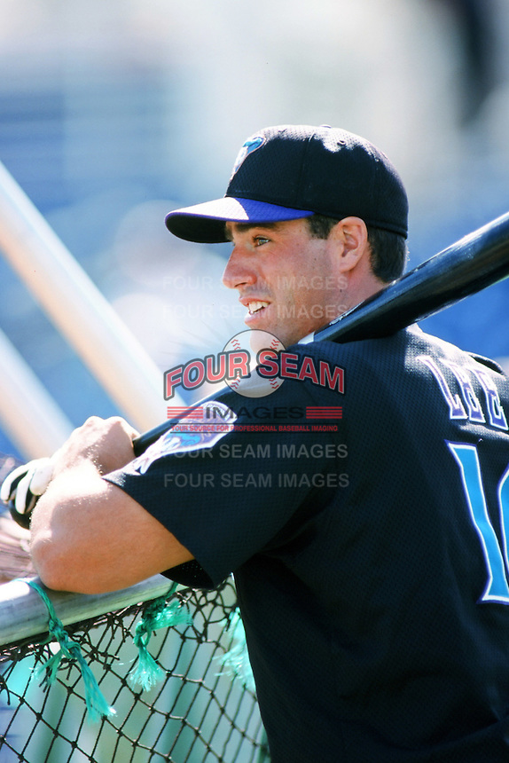 Travis Lee of the Arizona Diamondbacks takes batting practice before a 1999 Major League Baseball season game against the Anaheim Angels at Angel Stadium in Anaheim, California. (Larry Goren/Four Seam Images)