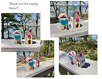 """""""Thank You for Stayng Home"""" Three dimensional art by Lucy Byer, Grade 3, Yarmouth, ME, USA"""