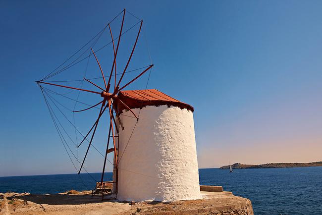 Widmills in Chios Chora. Chios Chios Island, Greece.