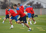 Lee Wallace in full training after completing his fitness teast