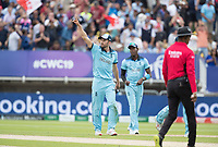 Mark Wood (England) acknowledges the crowd on the final wicket during Australia vs England, ICC World Cup Semi-Final Cricket at Edgbaston Stadium on 11th July 2019