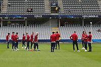 England players inspect the pitch before Sweden Under-21 vs England Under-21, UEFA European Under-21 Championship Football at The Kolporter Arena on 16th June 2017