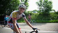 happy Dirk Bellemakers (NLD) after the race<br /> <br /> Halle - Ingooigem 2013<br /> 197km