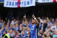 Willian celebrates scoring Chelsea's opening goal during Chelsea vs Sunderland AFC, Premier League Football at Stamford Bridge on 21st May 2017