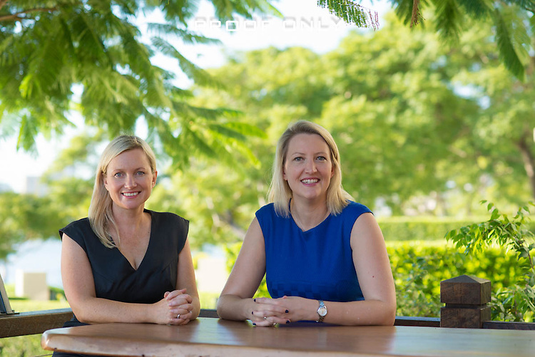 Dr. Catherine Ball, Dr. Rochelle Macdonald of Elemental Strategy Consultants and Jeremy Fay photoshoot at the Kangaroo Pt, Brisbane, Queensland, Australia, Friday, April 01, 2016.  Dr. Catherine Ball, Dr. Rochelle Macdonald of Elemental Strategy Consultants and Jeremy Fay photoshoot - Kangaroo Pt, Brisbane, Queensland, Australia, Friday, April 01, 2016. (Photo by John Pryke)