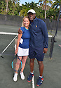 BOCA RATON, FL - NOVEMBER 22: Chris Evert and Seal pose for portrait during the 30TH ANNUAL Chris Evert Pro-Celebrity Tennis Classic presented by Chase Private Client at Boca Raton Resort & Club on November 22, 2019 in Boca Raton, Florida.   ( Photo by Johnny Louis / jlnphotography.com )