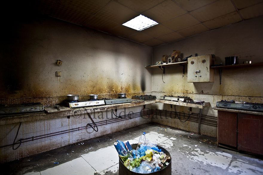 Qatar - Doha - Kitchen of a labour camp in the Industrial area of Doha.