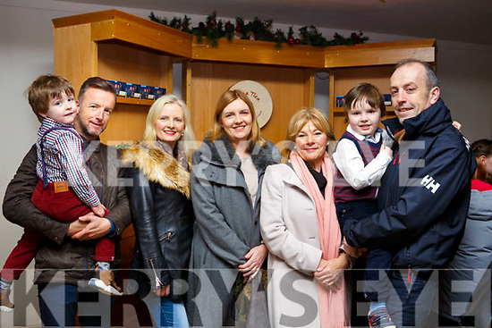 Attending the Cinderella Christmas Panto at Siamsa Tire, l-r, Kyle & Matt Moloney, Caroline Foley, Shirley & Kay Moloney, Justin & Tim Foley.