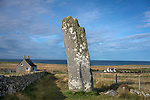 Scotland, Isle of Lewis and Harris: Clach an Trushal (stone of compassion) Scotland's tallest standing stone