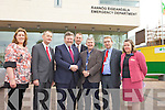 Dr. James Reilly, Minister for Health, at the official opening of the new Emergency Department at Kerry General Hospital on Friday. Pictured from left: Anita Keane, Michael Fitzgerald (Area Health Manager, HSE Kerry), Doctor James Reilly (Minister for Health), Doctor Martin Boyd (Consultant in Emergency Medicine, KGH), Doctor Richard Liston (Clinical Director, KGH), P.J. Harnett (General Manager, KGH) and Amanda Coulson (Project manager, KGH).