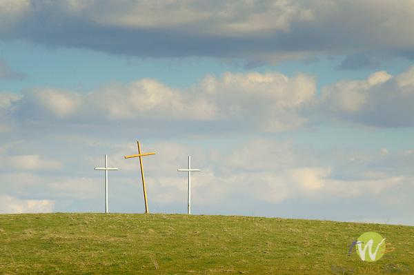 Route 81, VA. The crosses along interstate. Christian Crosses, Inc. Reverend Bernard Coffindaffer.
