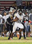 Lawndale, CA 11/11/16 - EJ Hatter (West Torrance #5), \la22\ and Ryan Wells (Lawndale #3) in action during the West Torrance - Lawndale CIF first round playoffs.  Lawndale defeated West Torrance 48-14.