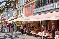 DEU, Deutschland, Baden-Wuerttemberg, Meersburg am Bodensee: Seepromenade, Cafes und Restaurants | DEU, Germany, Baden-Wuerttemberg, Meersburg at Lake Constance: seaside promenade, cafes and restaurants