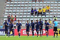 17th November 2019; Bezerrao Stadium, Brasilia, Distrito Federal, Brazil; FIFA U-17 World Cup football 3rd placed game 2019, Netherlands versus France; Arnaud Kalimuendo-Muinga of France celebrates his goal in the 62nd minute 1-3 - Editorial Use