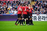Sunday, 23 November 2012<br /> <br /> Pictured: Manchester United Cebrations<br /> <br /> Re: Barclays Premier League, Swansea City FC v Manchester United at the Liberty Stadium, south Wales.
