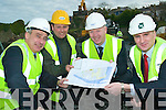 E-Towns: On the Tarbert site of the E-Town's project which kicked off this week were l-r Liam Walsh ( R&L Walsh Construction Castleisland), John Brassil (Shannon Development Chairman), Ogie Moran (Shannon Development Regional Development Officer for North Kerry) and Richard Walsh (Richard Walsh Associates Quantity Surveyors).